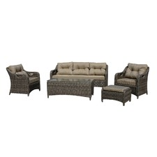 5 Seater Liverpool Outdoor Lounge & Table Set