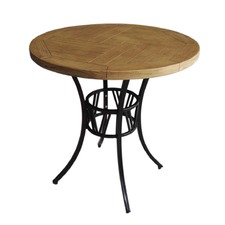 Round Outdoor Industrial Style Table