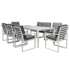 8 Seater Manly Outdoor Dining Table & Chair Set