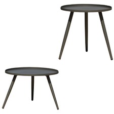 Charcoal 2 Piece Steel Outdoor Table Set
