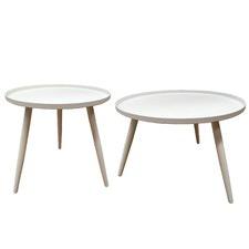 2 Piece Steel Outdoor Table Set