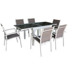 6 Seater Noosa Aluminium Outdoor Dining Set