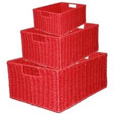 Rectangular Storage Baskets (Set of 3)