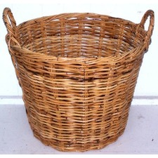 Medium Round Rattan Utility Basket