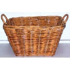Single Rectangular Rattan Utility Basket