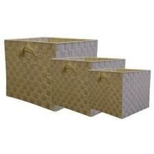 Nylon Storage Cube in Cream (Set of 3)