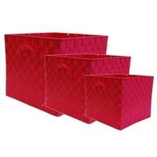 Nylon Storage Cube in Rose (Set of 3)