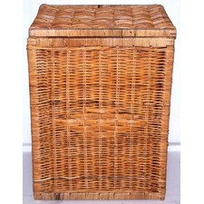Rattan Square Laundry Basket with Lid (Set of 3)