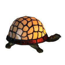 Leadlight Turtle Table Lamp in Creamy