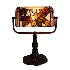 Floral Banker Table Lamp