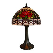 Leadlight Rose Lamp 48cm