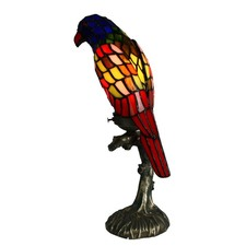 Bird Leadlight Multi-Colour Table Lamp