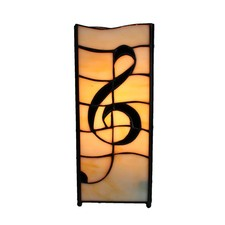 Music Symbol Square Pole Table Lamp