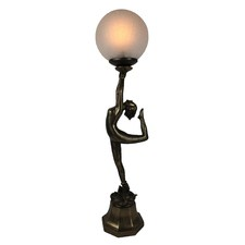 Art Decor Table Lamp with Crackled Ball
