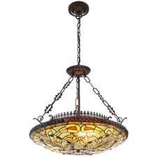Peacock Feather Kensington Pendant Light