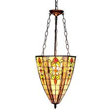 Cone Shape Floral Pendant