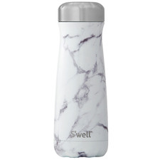 White Marble Traveller Elements 590ml Water Bottle