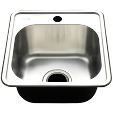 Square Edge Deep Single Bowl Kitchen Sink with Waste Basket