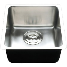 Large Square Deep Single Bowl Kitchen Sink with Multiple Accessories