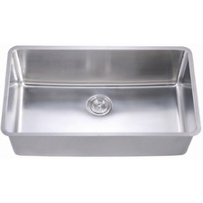 Extra Long Rectangular Deep Single Bowl Kitchen Sink with Multiple Accessories