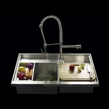 Work Station Series Triple Bowl Kitchen Sink with Accessories
