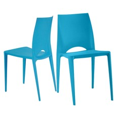 Venice Plastic Café Chairs (Set of 4)