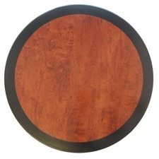 Cherry & Black Edge Round Resin Table Top
