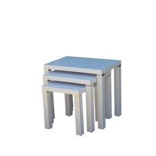Waverley White Gloss Set of 3 Nesting Tables