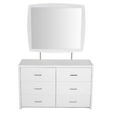 Waverley White Gloss Dressing Table & Mirror