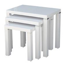 Kirribilli White Gloss Set of 3 Nesting Tables