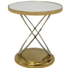 Lynda Glass & Metal Side Table