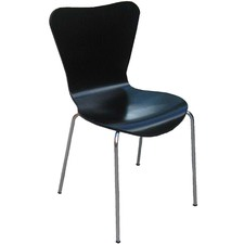Black Columbus Stackable Restaurant Chair