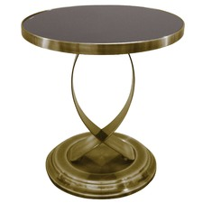 Gold & Black Siena Side Table