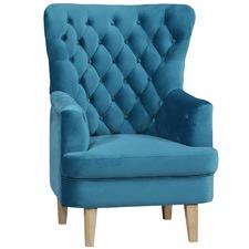 Skye Wing Back Velvet Armchair