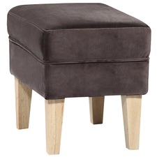 Skye Velvet Foot Stool
