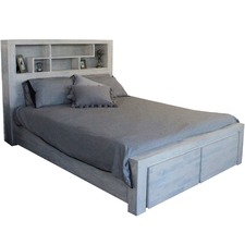 Whitewash Bed with Storage