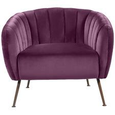 Asha Velvet Accent Chair
