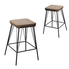 66cm Bayou Faux Leather Counterstool (Set of 2)