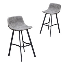 66cm Newcastle Faux Leather Barstool (Set of 2)