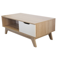 Natural & White Carly Coffee Table