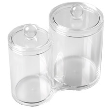 Double Cylinder Acrylic Cosmetics Organiser
