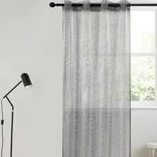 Black Kyoto Concealed Single Panel Eyelet Curtain