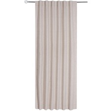 Linen Single Panel Concealed Tab Top Curtain