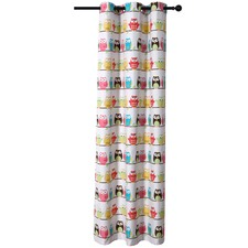 Owls Single Panel Eyelet Curtain