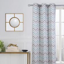 Wave Single Panel Eyelet Curtain