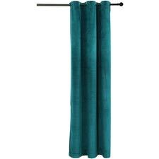 Velvet Single Panel Eyelet Curtain