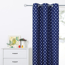 Star Single Panel Eyelet Curtain