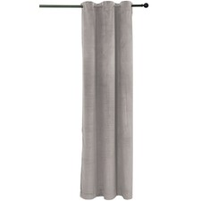 Velvet Single Panel Eyelet Curtain