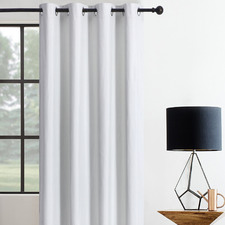 Ivory Albany Single Panel Eyelet Blockout Curtain