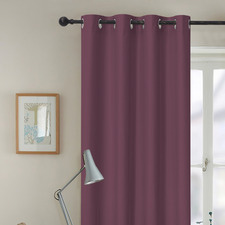 Wine Albany Single Panel Eyelet Blockout Curtain